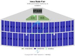 Grandstand Iowa State Fair Seating Chart Iowa State Fair Tickets And Iowa State Fair Seating Chart