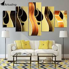 <b>5 piece</b> canvas painting guitars <b>display</b> poster home decor <b>wall</b> art ...