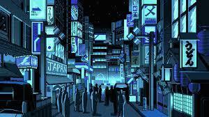 people, Japan, Pixel art, Street ...