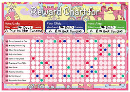 children rewards charts princess theme child girls boys reward chart