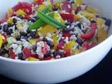 caribbean rice and black bean salad