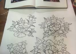 Anese Flower Tattoo Sketch Flowers Healthy