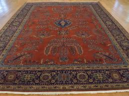 refundable 9x12 oriental rugs 9 x 12 rust red handmade rug sarouk fereghan new zealand