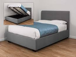 catchy double ottoman storage bed with brilliant gray fabric ottoman bed kaydian lanchester 4ft6 double