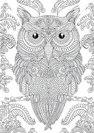 Owl Coloring Pages Free Owl Doodle Art Hard Coloring Page Free To