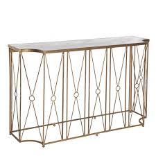 Aidan Gray Marlene Console Table with Antique Mirror Free Shipping