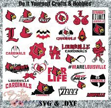 Louisville Design Studio Louisville Cardinals Set New Design Svg Files Cricut Silhouette Studio Digital Cut Files