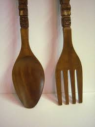 fork spoon wall decor large wooden and designs giant knife hanging philippines