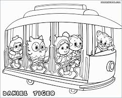 Daniel Tiger Christmas Coloring Page With Free Printable Pages At