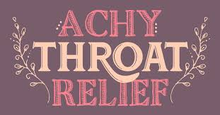 achy throat relief diy