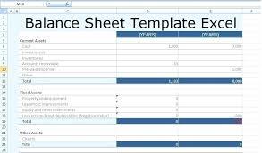 Simple Balance Sheet Excel Microsoft Balance Sheet Template Balance Sheet Of Simple