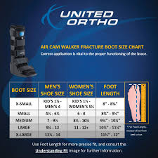 Medical Boot Size Chart United Ortho Air Cam Walker Fracture Boot Extra Small Black