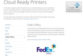 Print To Fedex Office Missing From Google Cloud Print
