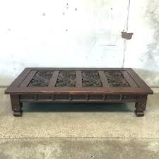 carved wood coffee table 30 pictures