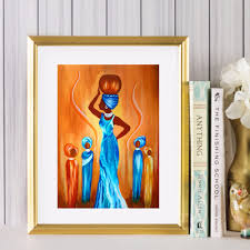abstract african woman canvas art print painting poster wall pictures for living room home decorative decor no frame in painting calligraphy from home  on african woman wall art with abstract african woman canvas art print painting poster wall