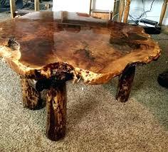 burl wood coffee table redwood patio tables uk