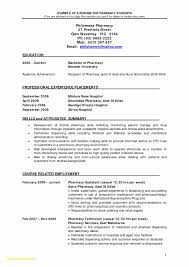 Pharmacist Resume Template Legalsocialmobilitypartnership Com