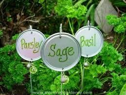 coat hanger wire tin lid garden markers the micro gardener