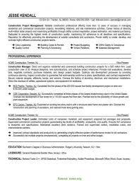 Resume Templates Construction Lcysne Com