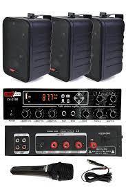 König Black Large Paket-2 Hoparlör ve Anfi Anons Ses Sistemi Seti en ucuz  fiyatları