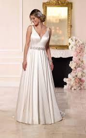 satin a line wedding gown stella york wedding dresses