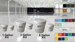 Ctm Epoxy Color Chart 1 3 5 15 Gal Kit High Gloss Clear Garage House Coating Concrete Epoxy Floor