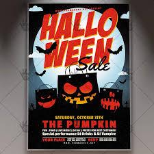 halloween sale flyer halloween sale seasonal flyer psd template psdmarket