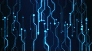 Abstract Technology Circuit Background Animation Loop Blue Motion