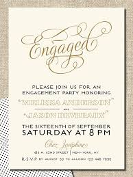 Engagement Invitation Format
