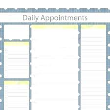 Schedule Forms Printable Daily Appointment Planner Book Template Excel Printable