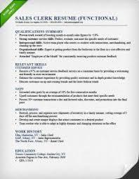 Sales Clerk Functional Resume Example X Cute Functional Resume