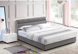 CLOTH ART BED MODERN STYLE GRAY SIMPLE FASION DOUBLE PERSON HIGH