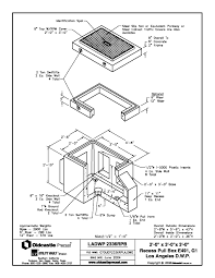 Product spec sheet 2'x3′ recess pull box e 491 group 1 ladwp diagram zoom