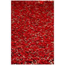 kas rugs cushy rug red heather 8 ft x 10 ft area rug