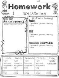 weekly assignment template printable weekly assignment sheet weekly homework sheet 2 jpg