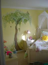 Hand Painted Mural for Girls Room