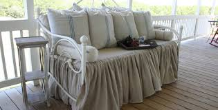 daybed : Interesting Daybed Covers With Bed Skirt And Cozy Wooden ...