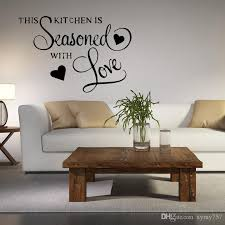 about wall quote sticker this kitchen is seasoned with love removable wall bedroom art sitting room decor vinyl decal sticker wall art sticker wall art  on self adhesive wall art stickers with about wall quote sticker this kitchen is seasoned with love
