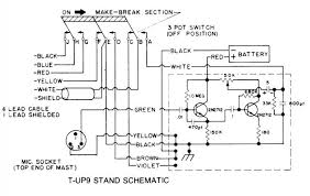 astatic t up9 d104 microphone qrz forums Astatic D 104 Wiring Diagram i have attached a diagram for the t up9 stand so you can see what the other wires are for just cut the unused wires flush with the insulation and then astatic d104 wiring diagrams