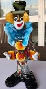 clown sculpture murano glass campanella made by maestri vetrai murano design by campanella father in 1973 a rare and vintage sculpture