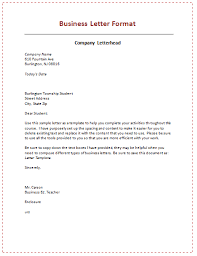 Block Letter Sample 60 Business Letter Samples Templates To Format A Perfect
