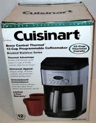 The best thermal coffee maker comes with a lot of benefits including making coffee with freshness, keeping your coffee hot for hours and many more. Cuisinart Dcc 2400 12 Cup Thermal Stainless Steel Carafe Coffee Maker For Sale Online Ebay