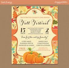 Fall Festival Flyer Instant Download Invitation Pumpkin Patch Farm