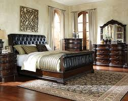 upholstered leather sleigh bed. Black Sleigh Bed Suite, Leather-Like Fabric   Churchill Bedroom Set Upholstered Leather I