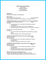 Best Current College Student Resume With No Experience Example