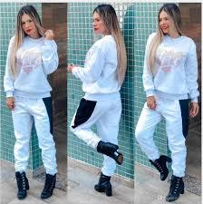 Womens Designer Sweat Suits 2019 Designer Tracksuit Women Luxury Sweat Suits Autumn Brand Womens Print Tracksuits Jogger Suits Jacket Pants Sets Sporting Suit From Honghui002