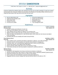 best pizza delivery drivers resume example livecareer create my resume