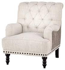 nailhead trim accent chair. Unique Nailhead Ashley Furniture Signature Design  Tartonelle Accent Chair IvoryTaupe  Fabric Nailhead Trim With L