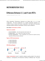 difference between 2, 3, and 4 wire rtd's instrumentation tools Four Wire Rtd difference between 2, 3, and 4 wire rtd's instrumentation tools pdf electrical resistance and conductance manufactured goods four-wire rtd measurement
