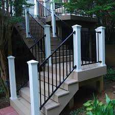 metal handrails for deck stairs. elegant fortress fe26 iron rake adjust a rail stair panel the deck railing panels designs metal handrails for stairs 3